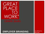EMPLOYER BRANDING - Great Place to Work Institute
