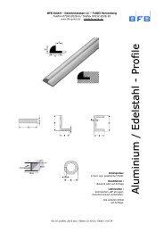 Profile Aluminium und Edelstahl, Lagerlängen und ... - BFB GmbH