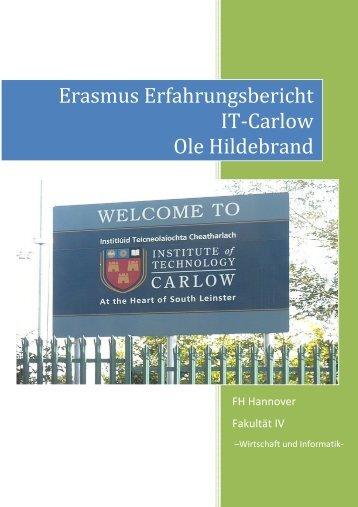 Erasmus Erfahrungsbericht IT Carlow Ole Hildebrand