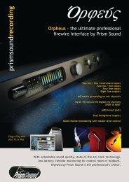 Orpheus - Prism Sound