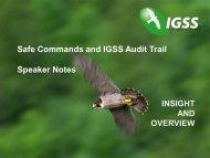 Safe Commands and IGSS Audit Trail Speaker Notes