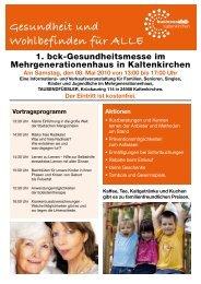 Gesundheit und Wohlbefinden für Alle - Förderverein KinderLeben eV