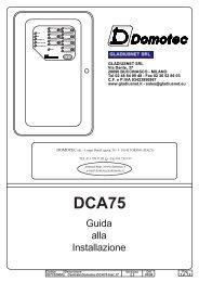 Nextec manuale tecnico centrale GSM LINK + RX