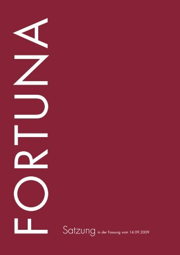 Satzung - FORTUNA Wohnungsunternehmen eG