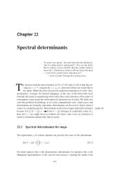 Chapter 19 - Spectral determinants - ChaosBook.org