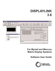 DISPLAYLINK 3.6 - Colorado Time Systems