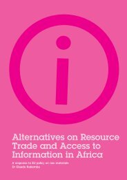 Alternatives on Resource Trade and Access to Information in ... - Weed