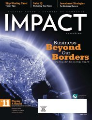 Business Beyond Our Borders - Phoenix Chamber of Commerce