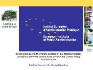 Social Dialogue in the Public Sectors of EU ... - Arbetsgivarverket