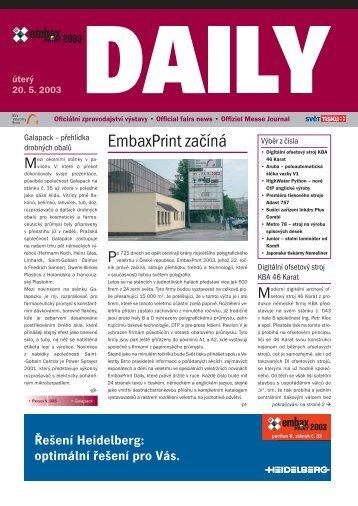 EmbaxPrint začíná - Svět tisku