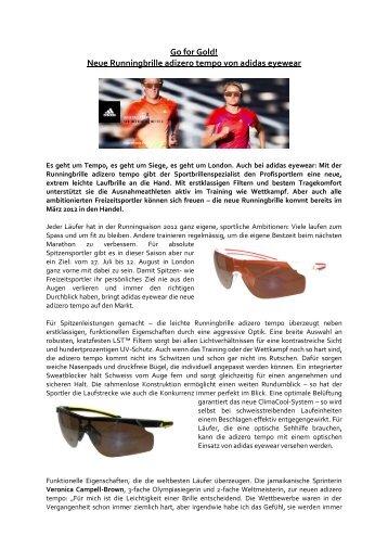 Go for Gold! Neue Runningbrille adizero tempo von ... - Hunziker Optik