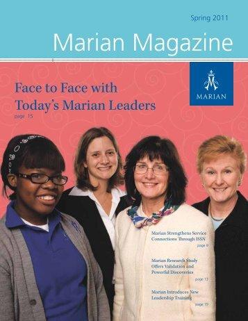 Marian Magazine - Marian High School