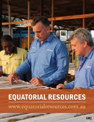 EqUATORIAL RESOURCES - The International Resource Journal
