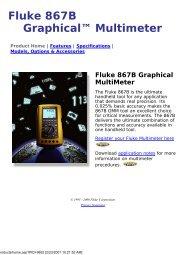 Fluke 867B Graphical Multimeter - MetricTest