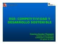 RSE: COMPETITIVIDAD Y DESARROLLO SOSTENIBLE