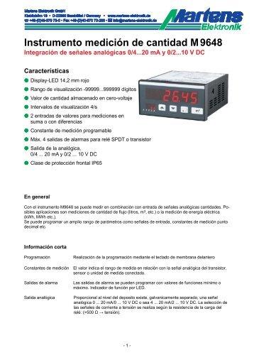 M9648-V1_15-00- Prospekt - Martens Elektronik GmbH