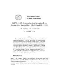 IRS-TR 12003 - IRS, The Infrared Spectrograph - Cornell University