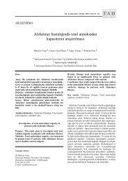 Alzheimer hastalığında total antioksidan kapasitenin araştırılması