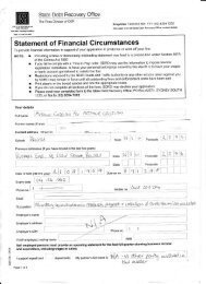 Statement of Financial Circumstances - Love for Life