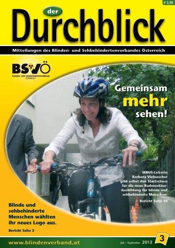 Durchblick - BSVÖ Blinden- und Sehbehindertenverband Österreich