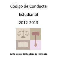 Cόdigo de Conducta Estudiantil 2012-2013 - The School Board of ...