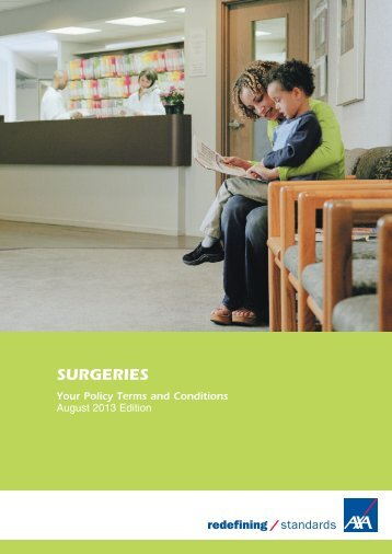 Surgeries policy document (PDF) - Business banking