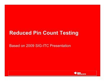 Reduced Pin Count Testing