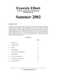 Summer 2002 - Fenwick Elliott