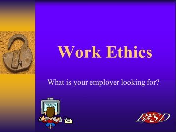 WORK ETHICS - Elktech.org