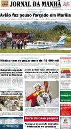 Avião faz pouso forçado em Marília - Jornal da Manhã