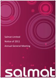 Salmat Limited Notice of 2011 Annual General Meeting