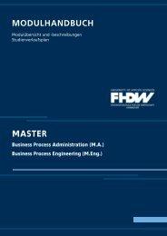 Modulhandbuch_master März 2008.pdf - FHDW