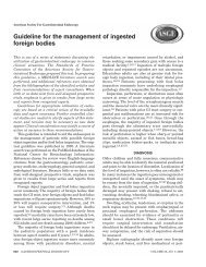 Guideline for the management of ingested foreign bodies - American ...