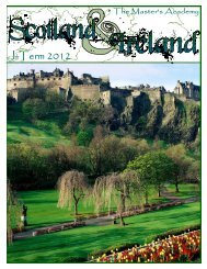 J -Term Trip to Scotland and Ireland