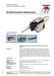 SK-5AN Automatic Welding Head - Soyer