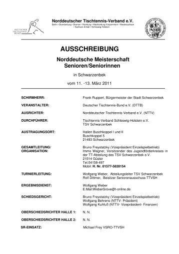 Ausschreibung - Fachverband Tischtennis Bremen FTTB