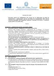 BANDO DI GARA Procedura aperta per l'affidamento del ... - Dps