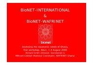 Regional solutions-BioNET