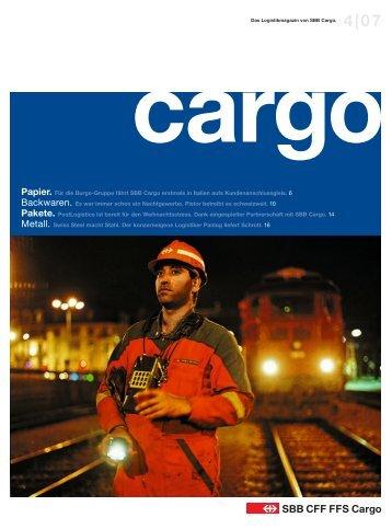 Papier. Für die Burgo-Gruppe fährt SBB Cargo erstmals in Italien ...