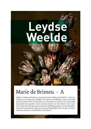 Marie de Brimeu - A - Museum Boerhaave