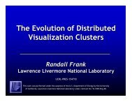 The Evolution of Distributed Visualization Clusters - Computation ...