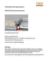 Zulassungsbescheid DIBt-Zulassung Z-19.15 ... - OBO Bettermann