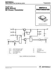 NPN RF Amplifier Transistor Surface Mount MSC3130T1 - Datasheets