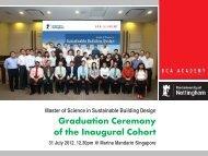 Graduation Ceremony of the Inaugural Cohort - BCA Academy