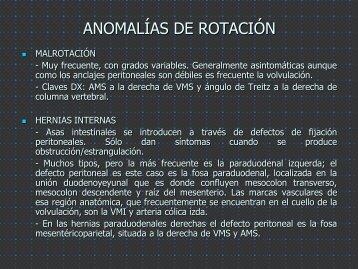 ANOMALÍAS DE ROTACIÓN