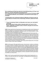 Wahlprüfsteine 2008 - Landesfrauenrat Hamburg eV