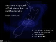 Neutrino Backgrounds to Dark Matter Searches and Directionality