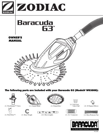 Zodiac Baracuda G3 - Home - Swimming Pool Parts Filters Pumps ...