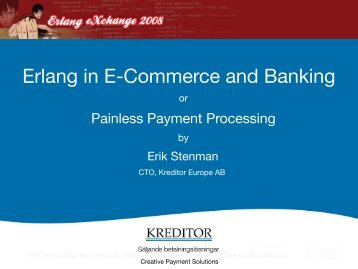 Erlang in E-Commerce and Banking - Erlang Factory