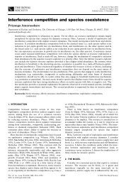 Interference competition and species coexistence - UCLA ...